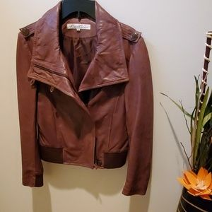 Kenneth Cole Leather Jacket brown